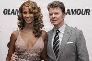 Bowie and wife, Iman, seen here in 2006. Photo by Stan Honda/AFP/Getty Images.
