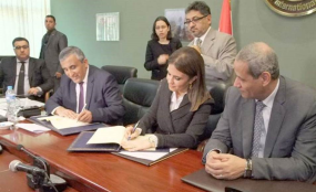 The Grant Agreement was signed on behalf of the Government of the Arab Republic of Egypt by the Minister of International Cooperation and on behalf of the Kuwait Fund for Arab Economic Development by Mr. Abdulwahab Al-Bader, Director-General of the Fund.